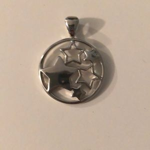 Lia Sophia Stars Silver Pendent to go on Necklace